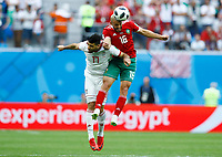 Mehdi Taremi(Iran) and Noureddine Amrabat (Morocco)<br /> Saint Petersburg 15-06-2018 Football FIFA World Cup Russia  2018 <br /> Morocco - Iran / Marocco - Iran <br /> Foto Matteo Ciambelli/Insidefoto