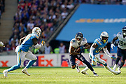 Tennessee Titans Tajae Sharpe WR (19) in action during the International Series match between Tennessee Titans and Los Angeles Chargers at Wembley Stadium, London, England on 21 October 2018.
