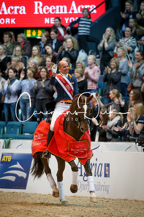 Minderhoud Hans Peter, (NED), Glock's Flirt<br /> Grand Prix Freestyle<br /> Reem Acra FEI World Cup Dressage - Goteborg 2016<br /> © Hippo Foto - Dirk Caremans<br /> 27/03/16