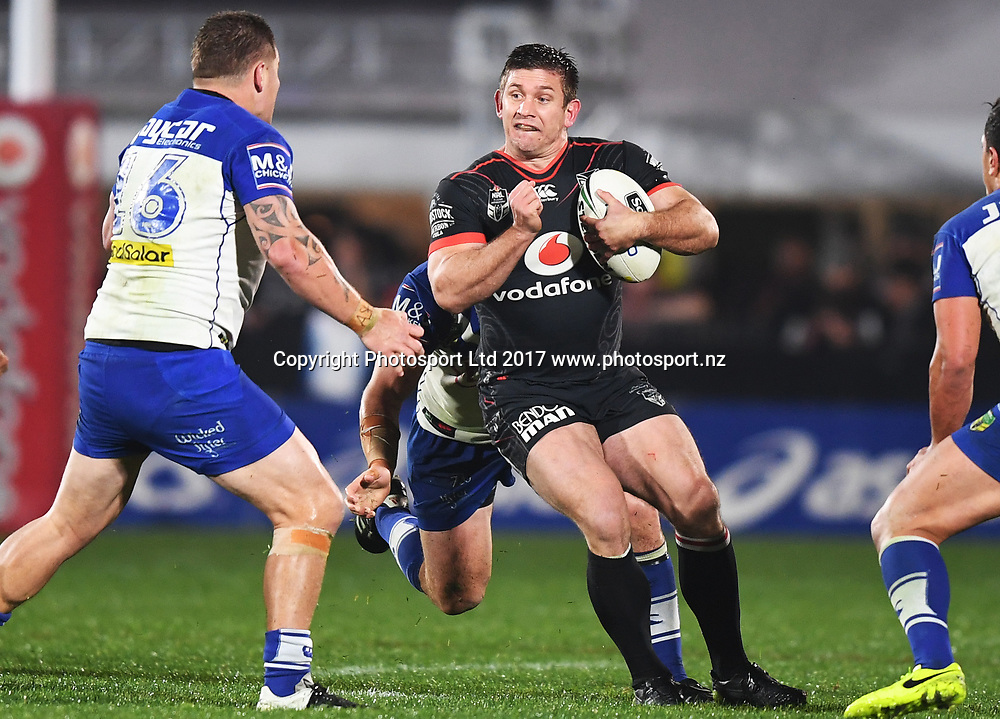 Jacob Lillyman.<br /> Vodafone Warriors v  Canterbury Bulldogs. NRL Rugby League. Mt Smart Stadium, Auckland, New Zealand. Friday 23 June 2017 &copy; Copyright Photo: Andrew Cornaga / www.Photosport.nz