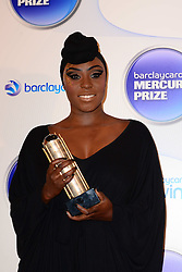 Mercury Prize. <br /> Laura Mvula attends the Barclaycard Mercury Prize at The Roundhouse, London, United Kingdom. Wednesday, 30th October 2013. Picture by Nils Jorgensen / i-Images