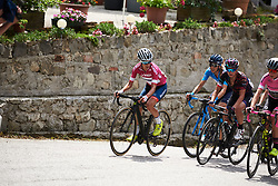 Ashleigh Moolman Pasio (RSA) looks back on the final climb at Giro Rosa 2018 - Stage 10, a 120.3 km road race starting and finishing in Cividale del Friuli, Italy on July 15, 2018. Photo by Sean Robinson/velofocus.com