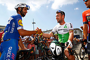 Fernando Gaviria (COL - QuickStep - Floors) - Mark Cavendish (GBR - Dimension Data) during the 105th Tour de France 2018, Stage 6, Brest - Mur de Bretagne Guerledan (181km) in France on July 12th, 2018 - Photo Luca Bettini / BettiniPhoto / ProSportsImages / DPPI