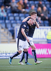 Falkirk's Craig Sibbald celebrates after scoring their first goal. <br /> Falkirk 3 v 0 St Mirren. Scottish Championship game played 21/10/2015 at The Falkirk Stadium.
