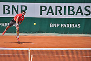 Michal Przysiezny from Poland competes in men's single first round while Day First during The French Open 2014 at Roland Garros Tennis Club in Paris, France.<br /> <br /> France, Paris, May 25, 2014<br /> <br /> Picture also available in RAW (NEF) or TIFF format on special request.<br /> <br /> For editorial use only. Any commercial or promotional use requires permission.<br /> <br /> Mandatory credit:<br /> Photo by &copy; Adam Nurkiewicz / Mediasport