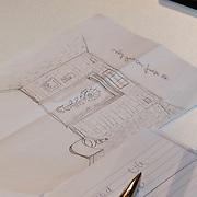NLD/Naarden/20100311 - Persconferentie van Jan des Bouvrie, tekening van de cel