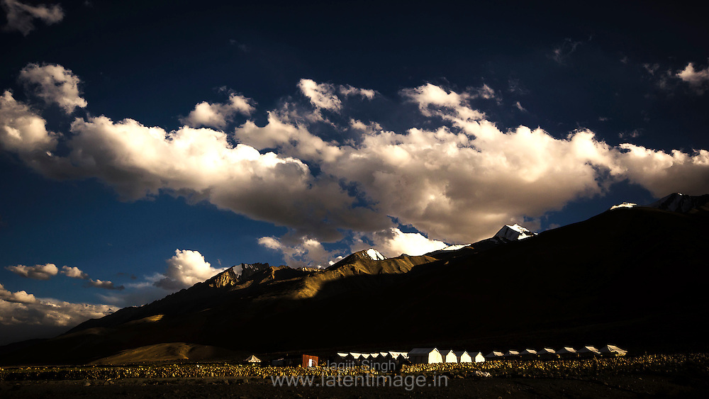 Pangong Tso. At the altitude of 14270 ft, it is one of the highest located lakes in the world. Out of 134 km, 60% of its total length is in Tibet, controlled by China.