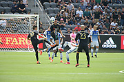 Los Angeles FC midfielder Benny Feilhaber (33) in action during a MLS soccer match in Los Angeles, Saturday, May 5, 2018. (Eddie Ruvalcaba/Image of Sport)