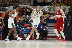 November 9, 2017 - Assago, Milan, Italy - Paulius Jankunas (#13 Zalgiris Kaunas) drives to the basket during a game of Turkish Airlines EuroLeague basketball between  AX Armani Exchange Milan vs Zalgiris Kaunas at Mediolanum Forum on November 9, 2017 in Milan, Italy. (Credit Image: © Roberto Finizio/NurPhoto via ZUMA Press)