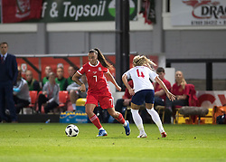 NEWPORT, WALES - Thursday, August 30, 2018: Wales' Natasha Harding in action during the FIFA Women's World Cup 2019 Qualifying Round Group 1 match between Wales and England at Rodney Parade. (Pic by Laura Malkin/Propaganda)