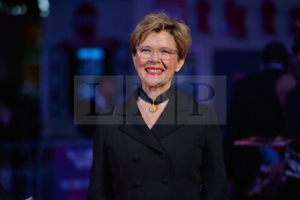 © Licensed to London News Pictures. 11/10/2017. London, UK. ANNETTE BENNING attends the European film premiere of Stars Don't Die In Liverpool showing as part of the 51st BFI London Film Festival. Photo credit: Ray Tang/LNP