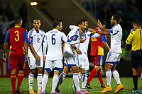 Omer Damari of Israel (C) celebrates with his teammates after scoring his side's third goal during the 2016 UEFA European Championship qualifying football match, Group B, between Andorra and Israel on October 13, 2014 at Estadi Nacional in Andorra la Vella, Andorra. Photo Manuel Blondeau / AOP PRESS / DPPI