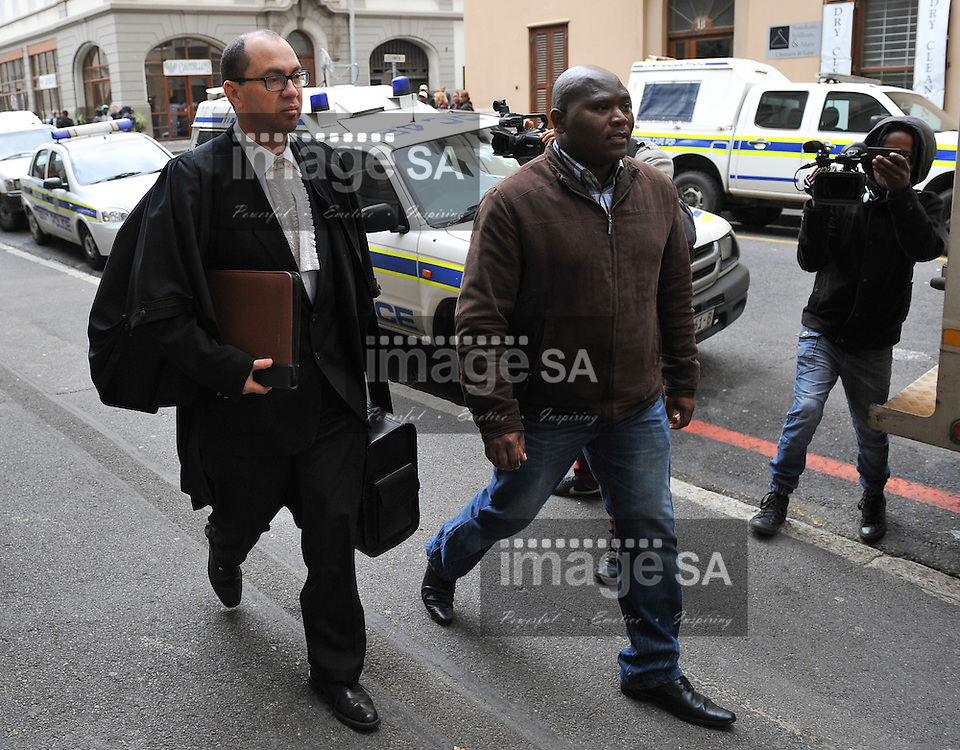 CAPE TOWN, SOUTH AFRICA - Thursday 8 October 2014,  State prosecutor, Advocate Adrian Mopp, arrives at court during Day 3 of the Shrien Dewani trial at the Cape High Court before Judge Jeanette Traverso. Dewani is caused of hiring hit men to murder his wife, Anni. Anni Ninna Dewani (n&eacute;e Hindocha; 12 March 1982 &ndash; 13 November 2010) was a Swedish woman who, while on her honeymoon in South Africa, was kidnapped and then murdered in Gugulethu township near Cape Town on 13 November 2010 (wikipedia).<br /> Photo by Roger Sedres