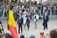 Queen Mathilde of Belgium and King Philippe - Filip of Belgium Prince Emmanuel, Crown Princess Elisabeth, Prince Gabriel and Princess Eleonore , Prince Lorenz of Belgium, Princess Astrid of Belgium, Princess Claire of Belgium and Prince Laurent of Belgium pictured during the military parade on the Belgian National Day pictured during the military parade on the Belgian National Day, , <br /> Brussels, 21 July 2015, Belgium<br /> Pics: Queen Mathilde of Belgium and King Philippe - Filip of Belgium