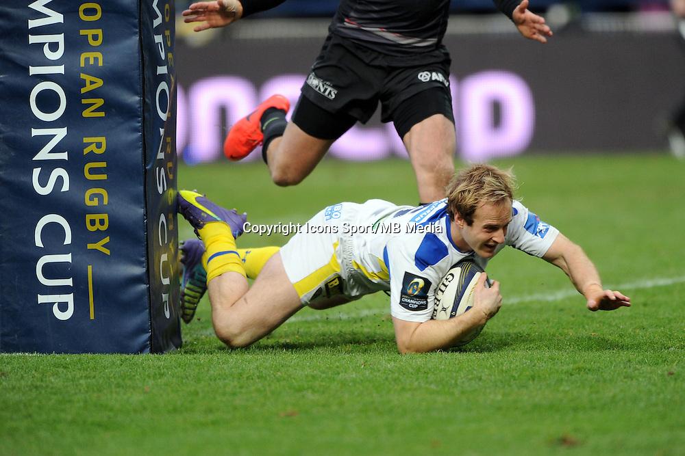 ESSAI DE Nick ABENDANON - 25.01.2015 -  Clermont / Saracens - European Champions Cup <br />Photo : Jean Paul Thomas / Icon Sport