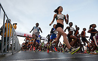 PORT ELIZABETH, SOUTH AFRICA - JULY 30: athletes at the start during the SA Half Marathon Championships on July 30, 2016 in Port Elizabeth, South Africa. (Photo by Roger Sedres/Gallo Images)