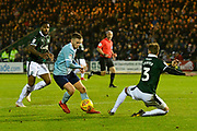 Sean McConville (11) of Accrington Stanley runs in to the 18 yard box before scoring a goal to make the score 2-0 to Accrington Stanley during the EFL Sky Bet League 1 match between Plymouth Argyle and Accrington Stanley at Home Park, Plymouth, England on 22 December 2018.