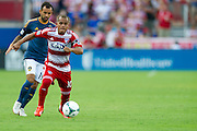 FRISCO, TX - AUGUST 11:  David Ferreira #10 of FC Dallas controls the ball against the Los Angeles Galaxy on August 11, 2013 at FC Dallas Stadium in Frisco, Texas.  (Photo by Cooper Neill/Getty Images) *** Local Caption *** David Ferreira