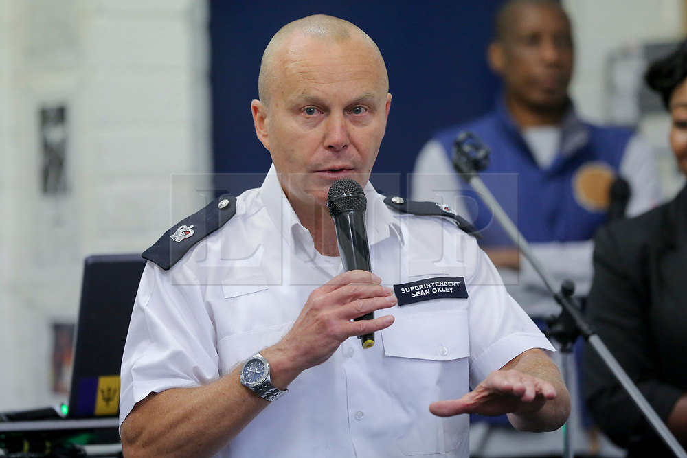 © London News Pictures. 27/06/2017. London, UK. Superintendent Sean Oxley speaks at the launch. The Mayor of London, Sadiq Khan and the Met Police Commissioner, Cressida Dick at Dwaynamics Boxing Club. The Mayor of London, Sadiq Khan and the Met Police Commissioner, Cressida Dick, launches a knife crime strategy at Dwaynamics Boxing Club, which will tackle the deeply concerning rise in knife crime across the capital, especially among young Londoners. Photo credit: Dinendra Haria/LNP