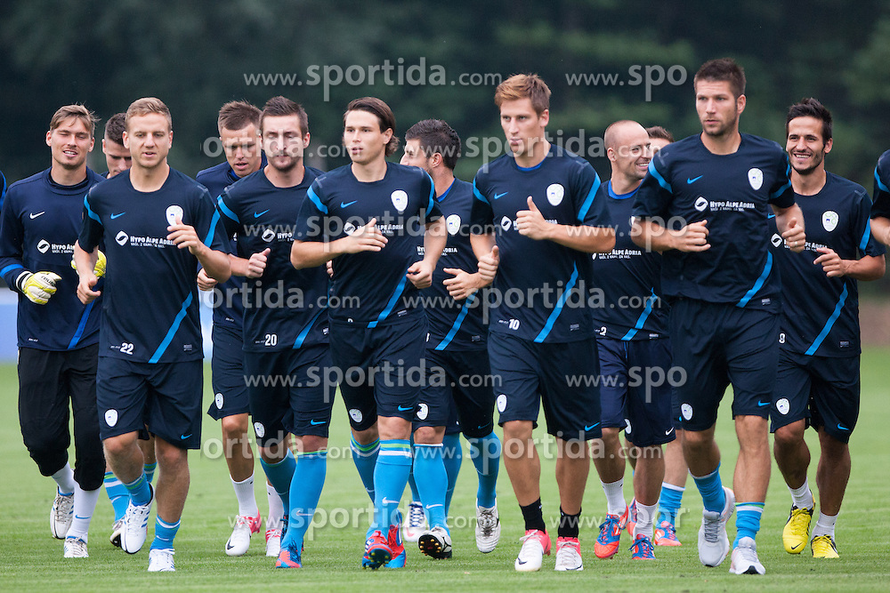 Players at first practice before WC 2014 Qualifications match against Switzerland, on September 3, 2012 in Sportni park, Kidricevo, Slovenia. (Photo by Matic Klansek Velej / Sportida.com)
