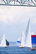 Wistful, S Class, sailing in the Robert H. Tiedemann Classic Yachting Weekend race 1.