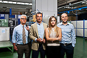 Il managment di Officine Vica: Roberto Pozzi, Gianni Bertotti, Valentina Pozzi, Matteo Sartori. L'azienda si occupa di automotive, in particolare della produzione di alcuni pezzi meccanici per automobili, camion e mezzi movimento terra.