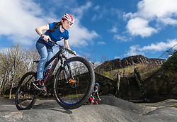"A new bike park for mountain bikers has opened in the centre of Edinburgh. The Skelf Bike park has a 900m2 ""Pump Track"" of banked corners and mounds. The park opens today and had professional riders trying out the new track.<br /> <br /> Pictured: Scottish Mountain Bike team member, Isla Shot. Isla rides with the professional team OMX-Pro Team"