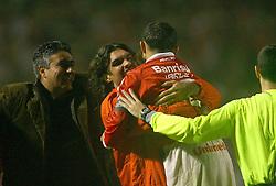 Fernandão comemora o título da Recopa Sul-Americana 2007 sobre da  Pachuca do México no estádio Beira Rio, em Porto Alegre 07 de junho de 2007. FOTO: Jefferson Bernardes/Preview.com