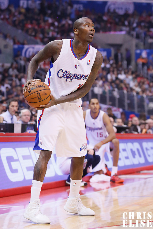 16 November 2013: Los Angeles Clippers shooting guard Jamal Crawford (11) looks to pass the ball during the Los Angeles Clippers 110-103 victory over the Brooklyn Nets at the Staples Center, Los Angeles, California, USA.