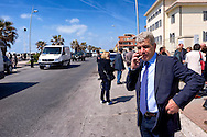 Roma, 10 Aprile  2015<br /> Primo giorno, per il sindaco di Roma Ignazio Marino, da presidente ad interim del Municipio di Ostia, rimasto senza guida, dopo le dimissioni del presidente Tassone per l'inchiesta Mafia Capitale. Nella foto: Alfonso Sabella, Assessore alla legalità del Comune di Roma con delega sul litorale di Ostia,  sul Lungomare Paolo Toscanelli.<br /> Rome, April 10, 2015<br /> First day, for the mayor of Rome Ignazio Marino, as interim president of the Municipality of Ostia, left without guidance, after the resignation of President Tassone for inquiry Mafia Capital.. Pictured: Alfonso Sabella, Councillor legality of the City of Rome with the delegation on the coast of Ostia, on the Waterfront Paolo Toscanelli.