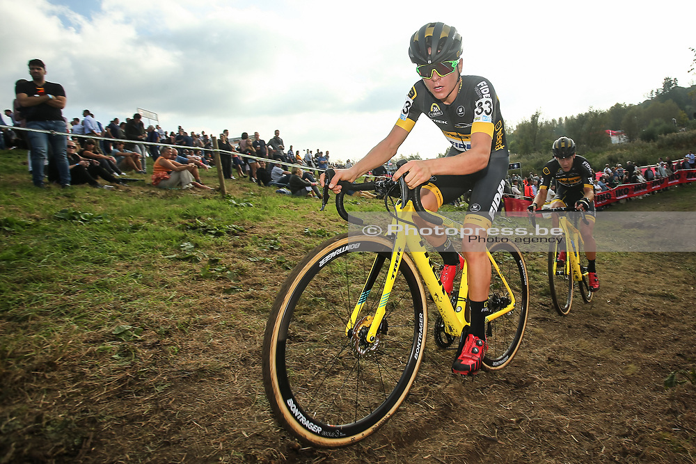 BELGIUM / KRUIBEKE / CYCLING / CYCLOCROSS / VELDRIJDEN / VELDRIT / BRICO CROSS #3 / POLDERSCROSS / MEN ELITE / TOM PIDCOCK (GBR - TELENET FIDEA LIONS) /