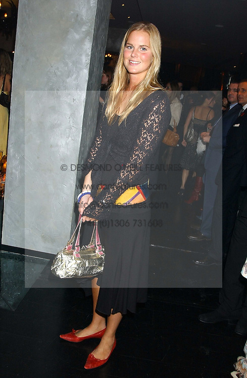 MISS ALICE FERGUSON sister of Sarah, Duchess of York at a party to celebrate the publication of Tatler's Little Black Book 2005 held at the Baglioni Hotel, 60 Hyde Park Gate, London SW7 on 9th November 2005.<br />