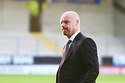 Burnley's Manager Sean Dyche arrives at the Pirelli Stadium during the EFL Cup match between Burton Albion and Burnley at the Pirelli Stadium, Burton upon Trent, England on 25 September 2018.