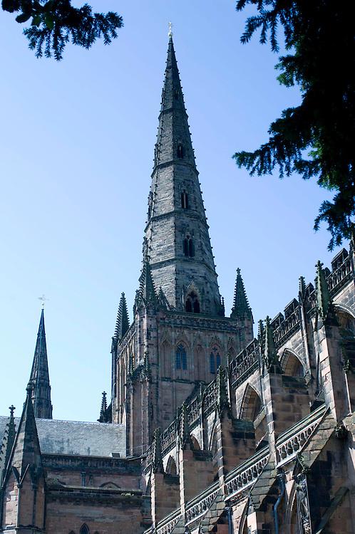 Lichfield Cathedral, Lichfield, Staffordshire, England, UK.