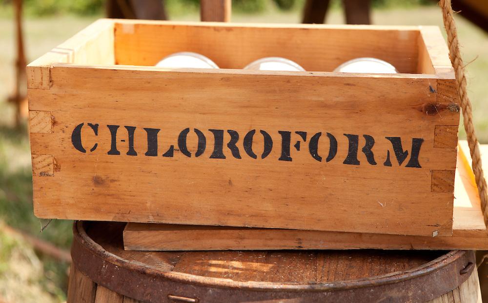 US Civil War Period Medical Display with Chloroform