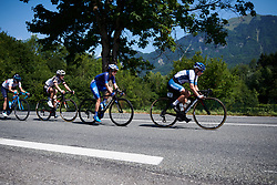Lotta Lepistö (FIN) and Leah Thomas (USA) lead the break at La Course by Le Tour de France 2018, a 112.5 km road race from Annecy to Le Grand Bornand, France on July 17, 2018. Photo by Sean Robinson/velofocus.com