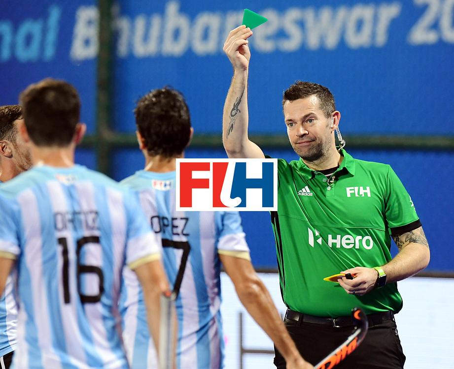 Odisha Men's Hockey World League Final Bhubaneswar 2017<br /> Match id:22<br /> Argentina v Australia Final<br /> Foto: Umpire<br /> COPYRIGHT WORLDSPORTPICS FRANK UIJLENBROEK