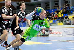 12.11.2016, BSFZ Suedstadt, Maria Enzersdorf, AUT, HLA, SG INSIGNIS Handball WESTWIEN vs Sparkasse Schwaz HANDBALL TIROL, Grunddurchgang, 12. Runde, im Bild Anton Prakapenia (Sparkasse Schwaz HANDBALL TIROL), Armin Hochleitner (Sparkasse Schwaz HANDBALL TIROL), Wilhelm Jelinek (WestWien) // during Handball League Austria, 12 th round match between SG INSIGNIS Handball WESTWIEN and Sparkasse Schwaz HANDBALL TIROL at the BSFZ Suedstadt, Maria Enzersdorf, Austria on 2016/11/12, EXPA Pictures © 2016, PhotoCredit: EXPA/ Sebastian Pucher