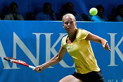 Johanna Larsson of Sweden at final match of Singles at Banka Koper Slovenia Open WTA Tour tennis tournament, on July 25, 2010 in Portoroz / Portorose, Slovenia. (Photo by Matic Klansek Velej / Sportida)