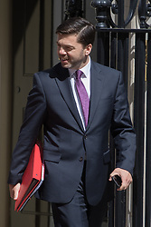 Downing Street, London, July 5th 2016. Work and Pensions Secretary Stephen Crabb leaves 10 Downing Street following the weekly cabinet meeting.