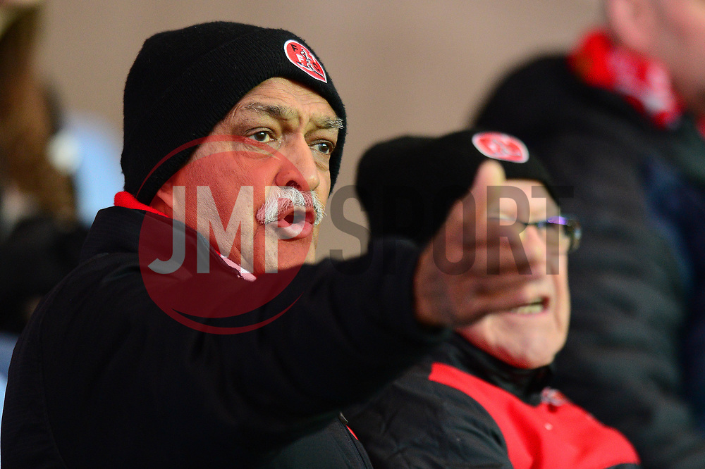Fleetwood Town fan gestures as he watches the game - Mandatory by-line: Dougie Allward/JMP - 05/04/2017 - FOOTBALL - Kassam Stadium - Oxford, England - Oxford United v Fleetwood Town - Sky Bet League One
