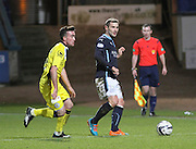 St Mirren's Stephen Mallan and Dundee's Kevin Thomson  - Dundee v St Mirren, SPFL Premiership at <br /> Dens Park<br /> <br />  - &copy; David Young - www.davidyoungphoto.co.uk - email: davidyoungphoto@gmail.com