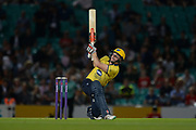 Ed Pollock of Birmingham Bears batting during the NatWest T20 Blast South Group match between Surrey County Cricket Club and Warwickshire County Cricket Club at the Kia Oval, Kennington, United Kingdom on 25 August 2017. Photo by Dave Vokes.