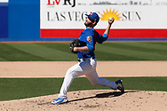 March 18, 2018 - Las Vegas, NV, U.S. - LAS VEGAS, NV - MARCH 18: Cory Mazzoni (60) of the Cubs delivers a pitch during a game between the Chicago Cubs and Cleveland Indians as part of Big League Weekend on March 18, 2018 at Cashman Field in Las Vegas, Nevada. (Photo by Jeff Speer/Icon Sportswire) (Credit Image: © Jeff Speer/Icon SMI via ZUMA Press)