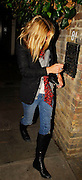 17.JANUARY.2007. LONDON<br /> <br /> KATE MOSS ARRIVING BACK TO HER HOUSE AFTER SPENDING THE EVENING AT DAVINIA TAYLOR'S HOUSE.<br /> <br /> BYLINE: EDBIMAGEARCHIVE.CO.UK<br /> <br /> *THIS IMAGE IS STRICTLY FOR UK NEWSPAPERS AND MAGAZINES ONLY*<br /> *FOR WORLD WIDE SALES AND WEB USE PLEASE CONTACT EDBIMAGEARCHIVE - 0208 954 5968*