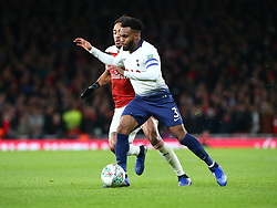 December 19, 2018 - London, England, United Kingdom - London, UK, 19 December, 2018.Tottenham Hotspur's Danny Rose under pressure from Pierre-Emerick Aubameyang of Arsenal.during Carabao Cup Quarter - Final between Arsenal and Tottenham Hotspur  at Emirates stadium , London, England on 19 Dec 2018. (Credit Image: © Action Foto Sport/NurPhoto via ZUMA Press)