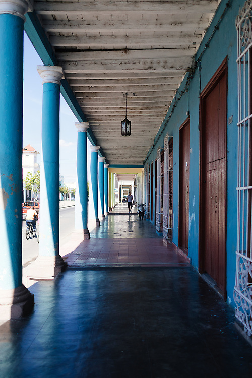Person walks in Cienfuegos, Cuba