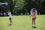 The final 4 teams in both Div II & Div III Women's Lacrosse Tournament host a skills clinic at Stevenson University's GreenSpring Campus working with participants from Lake Elkhorn Middle School and The 13th Girl Foundation.