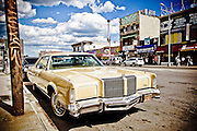 Chrysler New Yorker parked on the main street of coney Island in Brooklyn, New York, 2010.