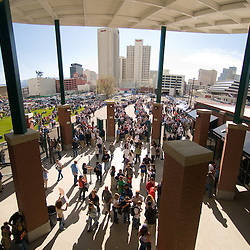 Fans enter below the rotunda in 2009. Photo by David Calvert/Reno Aces